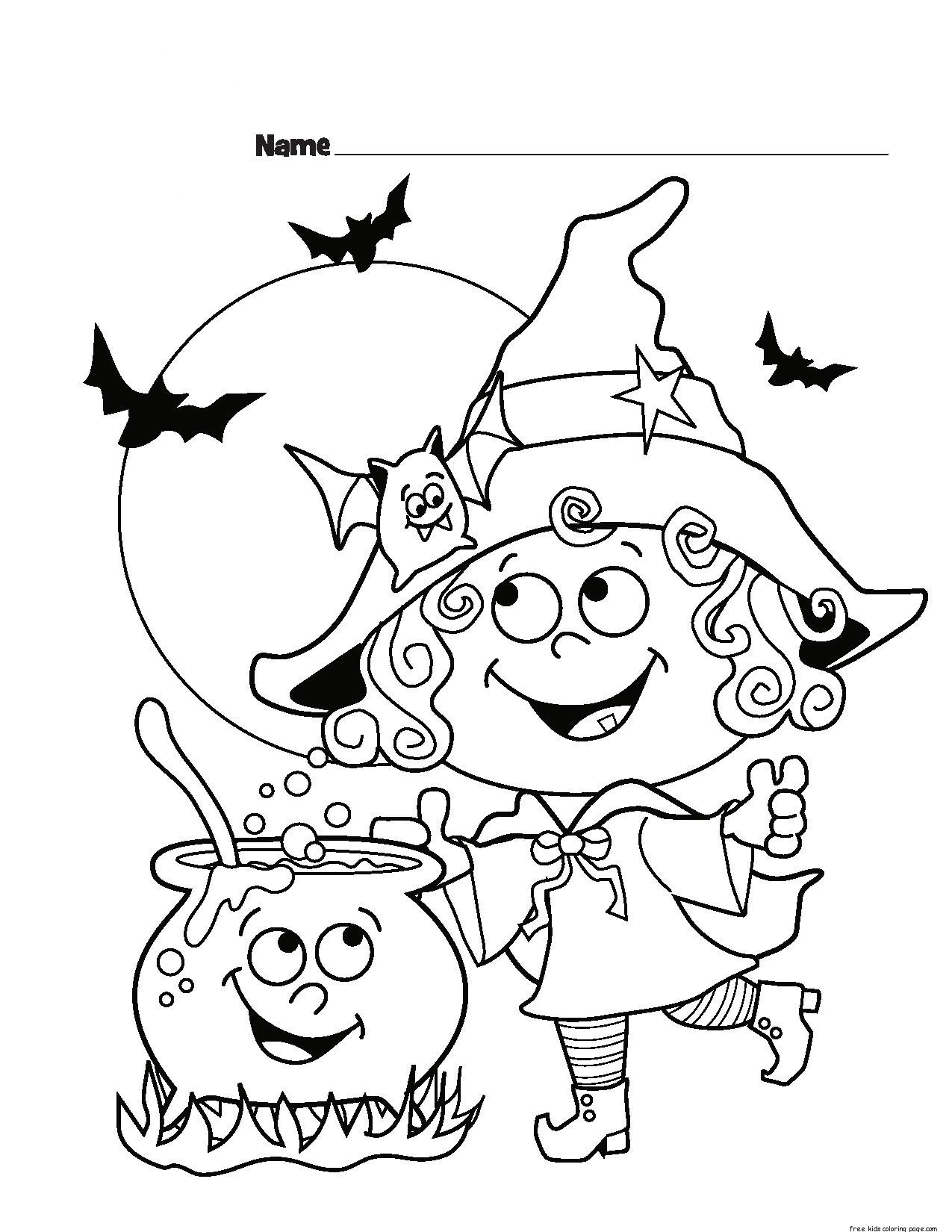 Best ideas about Free Coloring Sheets For Kids Halloween Themed . Save or Pin childrens halloween witch costumes coloring page for Now.