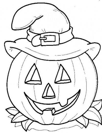 Best ideas about Free Coloring Sheets For Kids Halloween Themed . Save or Pin Coloriage Halloween citrouille et chapeau de sorcière Now.