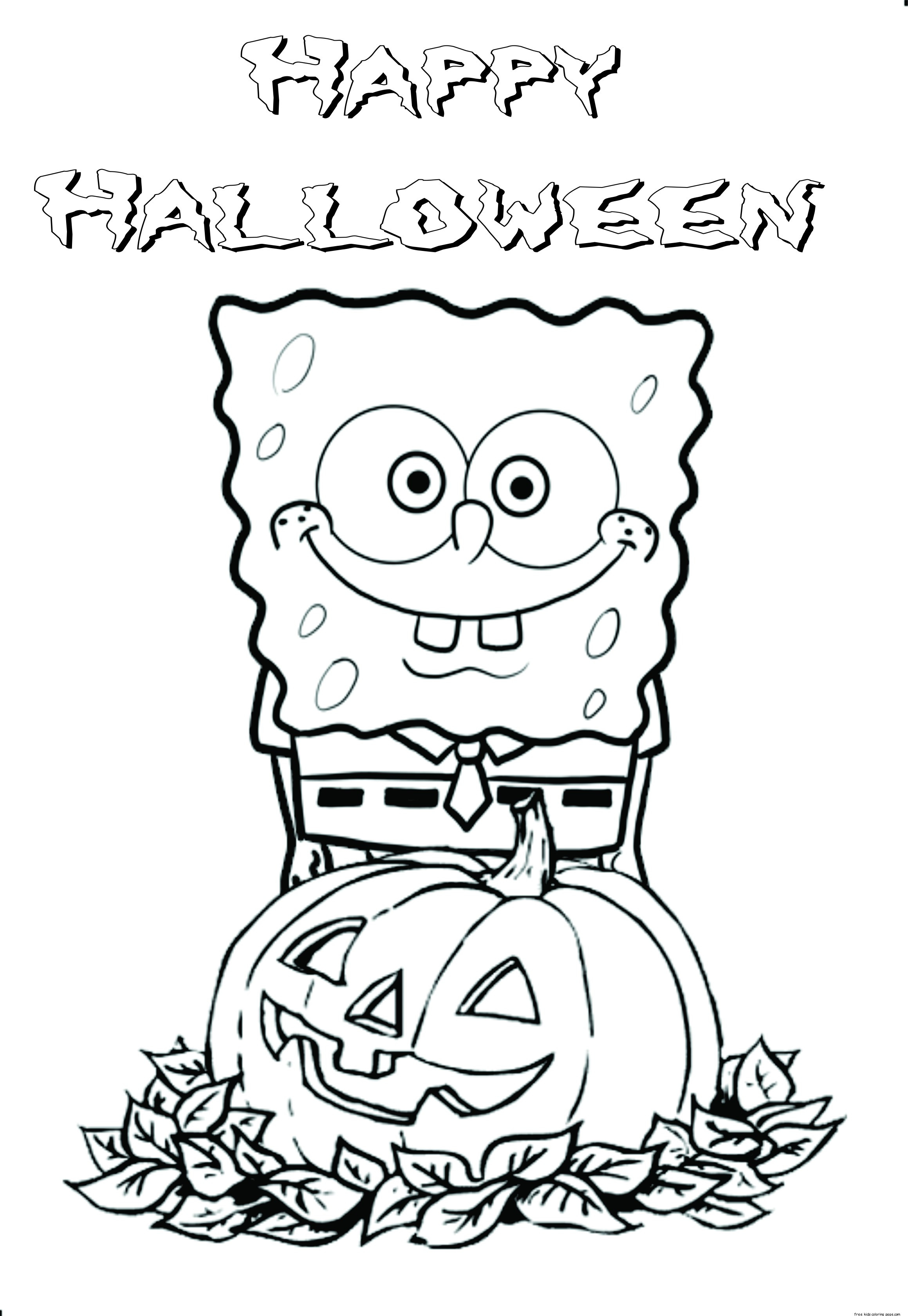 Best ideas about Free Coloring Sheets For Kids Halloween Themed . Save or Pin Printable halloween spongebob coloring pagesFree Printable Now.