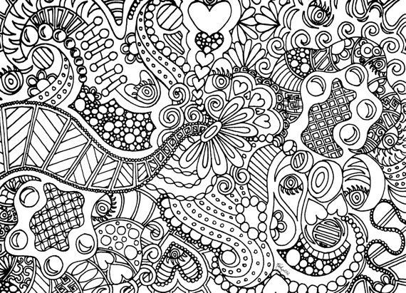 Best ideas about Free Printable Coloring Pages For Adults Hard That Are Zentangles . Save or Pin Instant Download Coloring Page Hand Drawn Zentangle Now.
