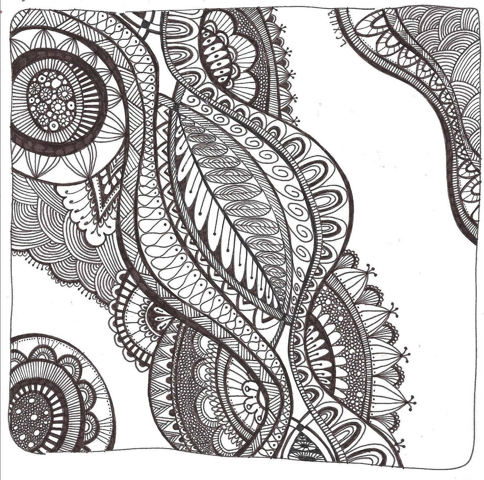 Best ideas about Free Printable Coloring Pages For Adults Hard That Are Zentangles . Save or Pin Free Printable Zentangle Coloring Pages for Adults Now.
