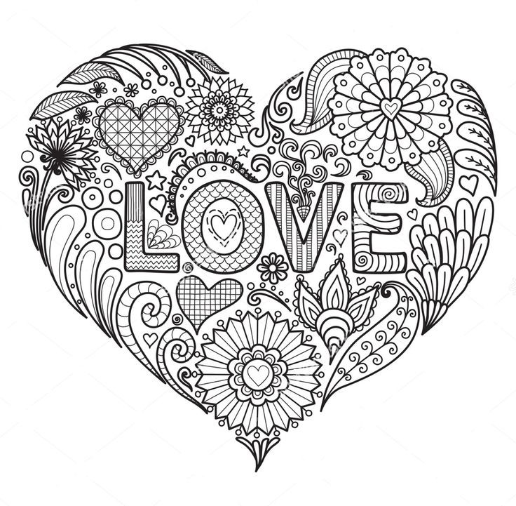 Best ideas about Free Printable Coloring Pages For Adults Hard That Are Zentangles . Save or Pin Love zentangle coloring page Now.