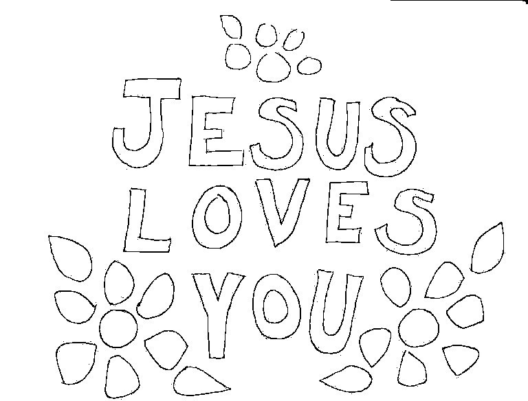 Best ideas about Free Printable Coloring Pages Jesus Loves Me . Save or Pin Jesus Loves Me Coloring Page Now.