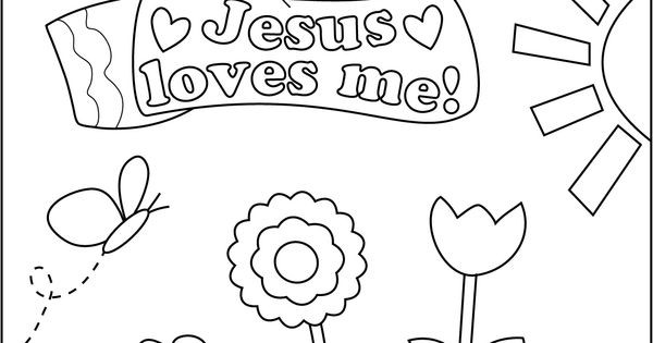 Best ideas about Free Printable Coloring Pages Jesus Loves Me . Save or Pin coloring sheet jesus loves me girl Now.