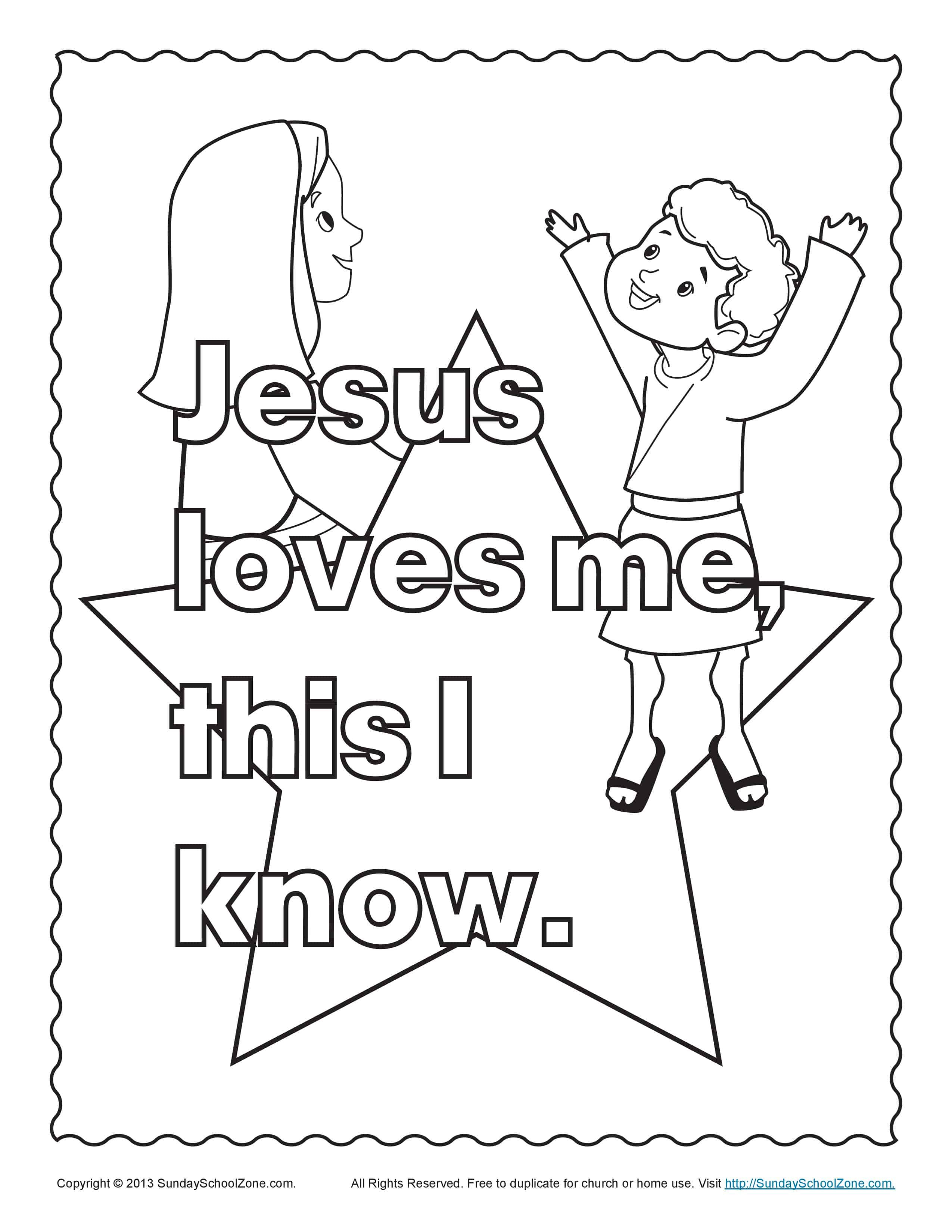 Best ideas about Free Printable Coloring Pages Jesus Loves Me . Save or Pin Bible Coloring Pages for Kids Now.