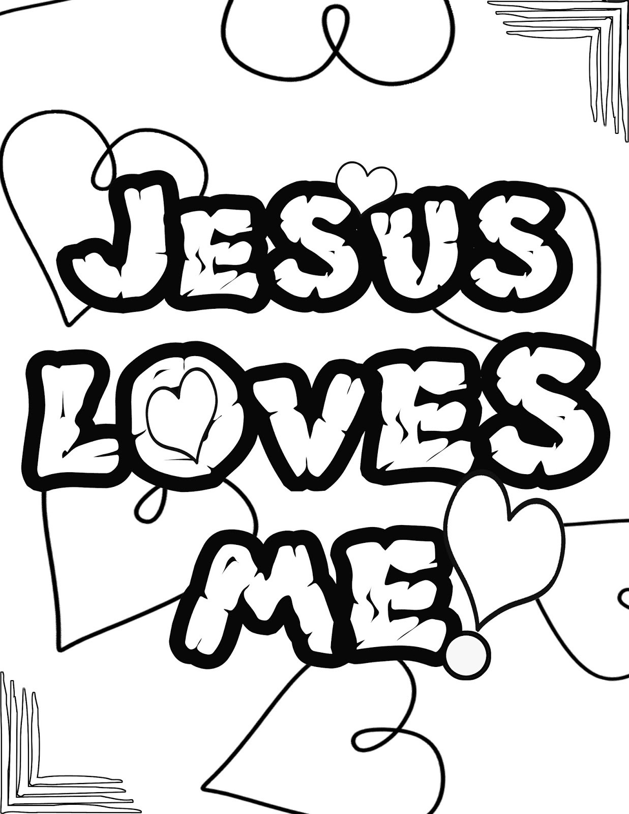 Best ideas about Free Printable Coloring Pages Jesus Loves Me . Save or Pin Jesus Loves Me Coloring Pages Printables Free Clipart Now.