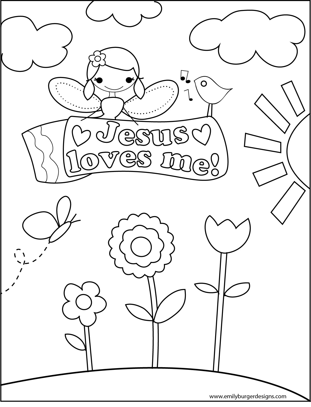 Best ideas about Free Printable Coloring Pages Jesus Loves Me . Save or Pin 6 Best of Jesus Loves Me Printables Printable Now.