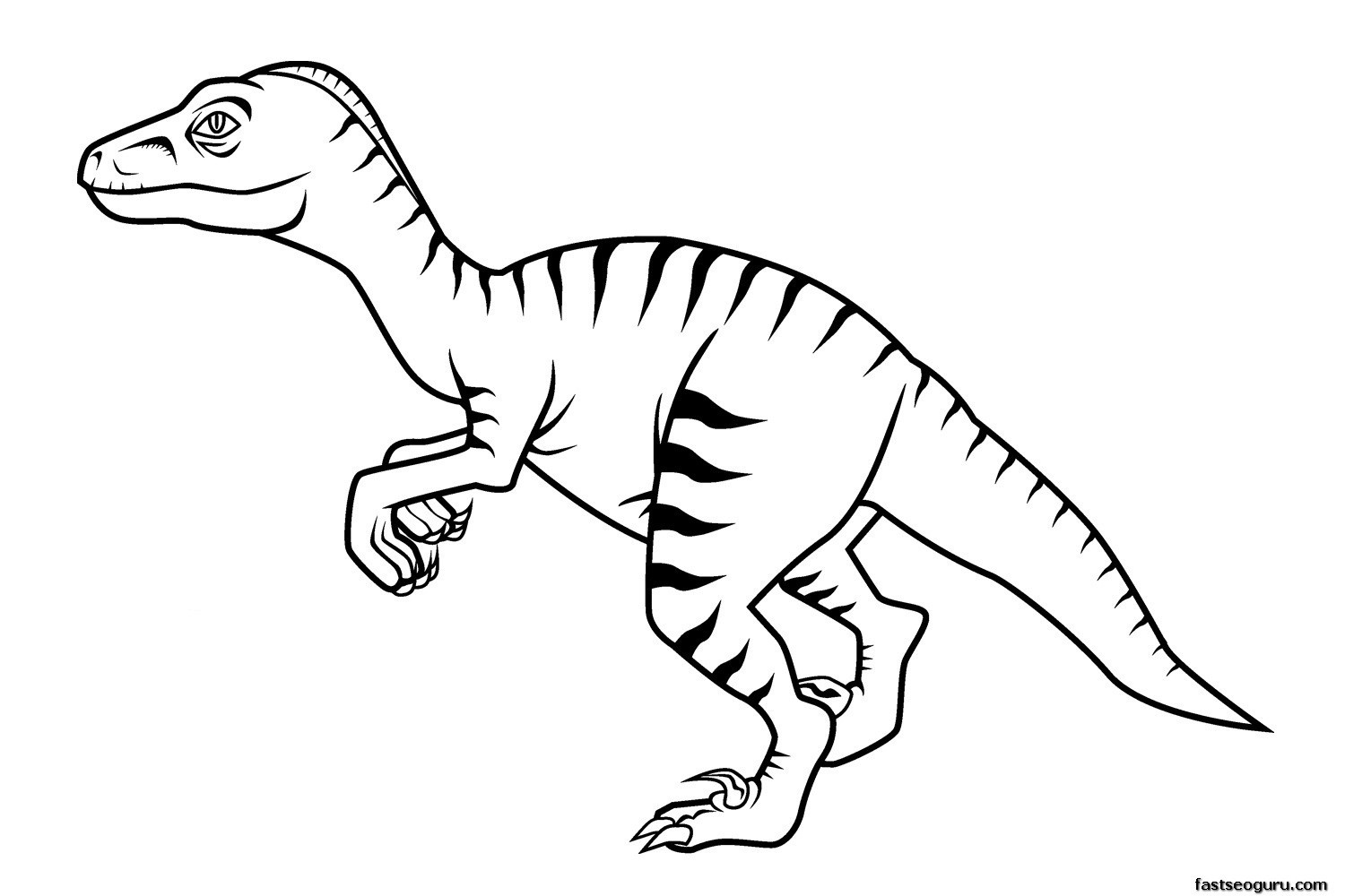 Best ideas about Free Printable Coloring Sheets Dinosaurs . Save or Pin Free Printable Dinosaur Coloring Pages For Kids Now.