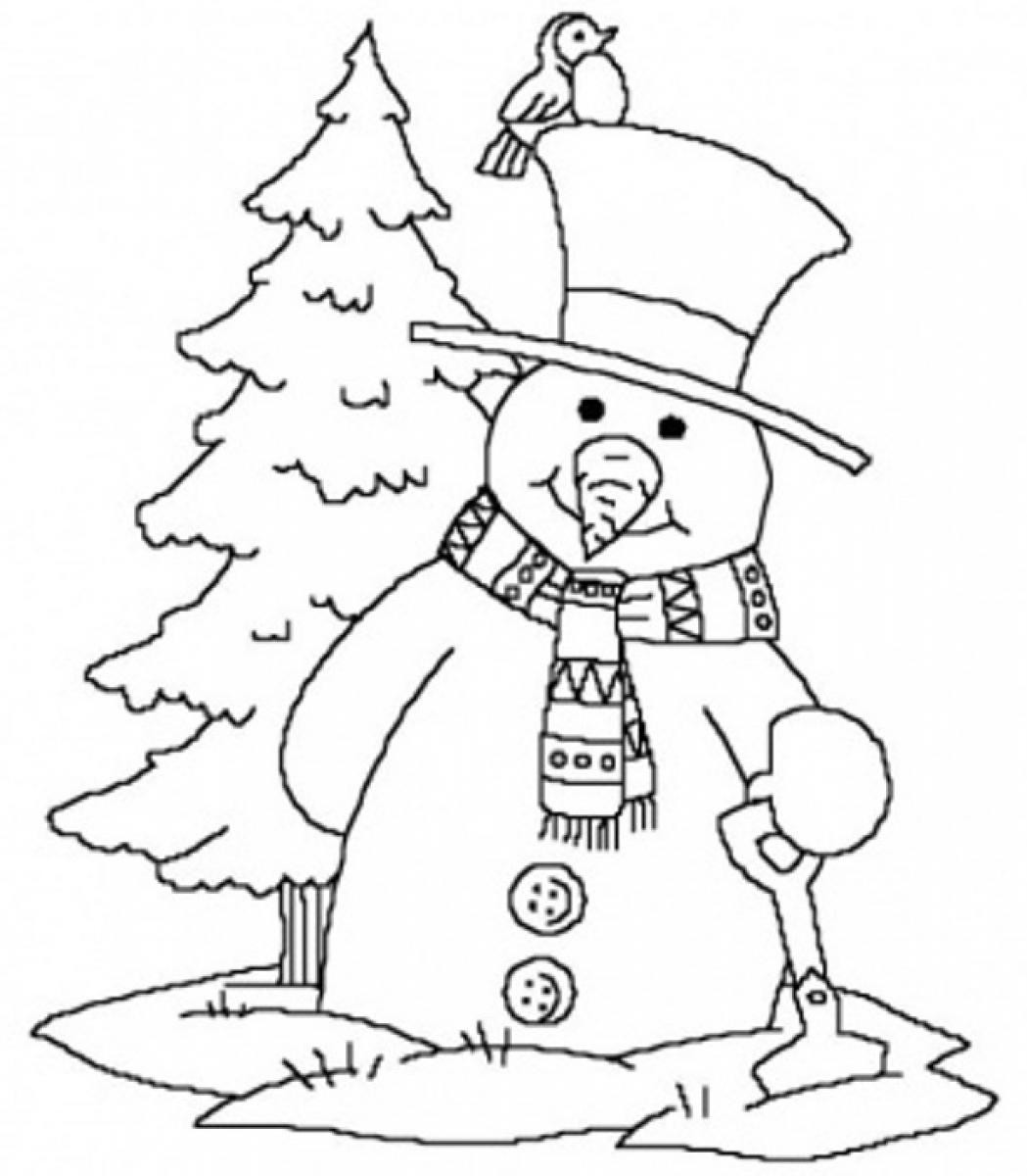 Best ideas about Free Printable Coloring Sheets For Adults Winter Pine Tree . Save or Pin Winter season 11 Nature – Printable coloring pages Now.