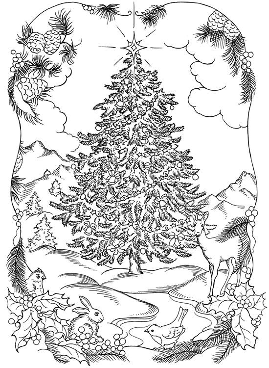 Best ideas about Free Printable Coloring Sheets For Adults Winter Pine Tree . Save or Pin Christmas Tree Coloring Pages for Adults 2018 Dr Odd Now.