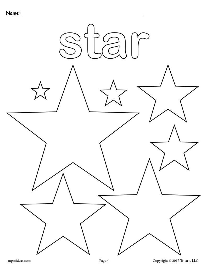 Best ideas about Free Printable Coloring Sheets Of Stars . Save or Pin FREE Stars Coloring Page Star Shape Worksheet – SupplyMe Now.