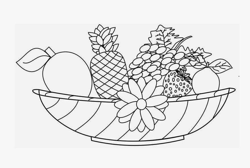 Best ideas about Fruit Coloring Pages For Adults . Save or Pin Coloring Pages Fruit Basket Coloring Home Now.