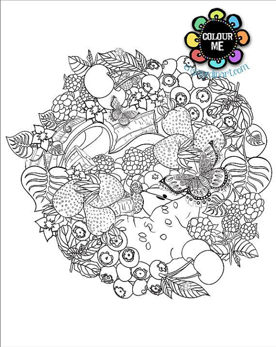 Best ideas about Fruit Coloring Pages For Adults . Save or Pin Printable Colouring Page Adult Colouring Page Fruit Now.