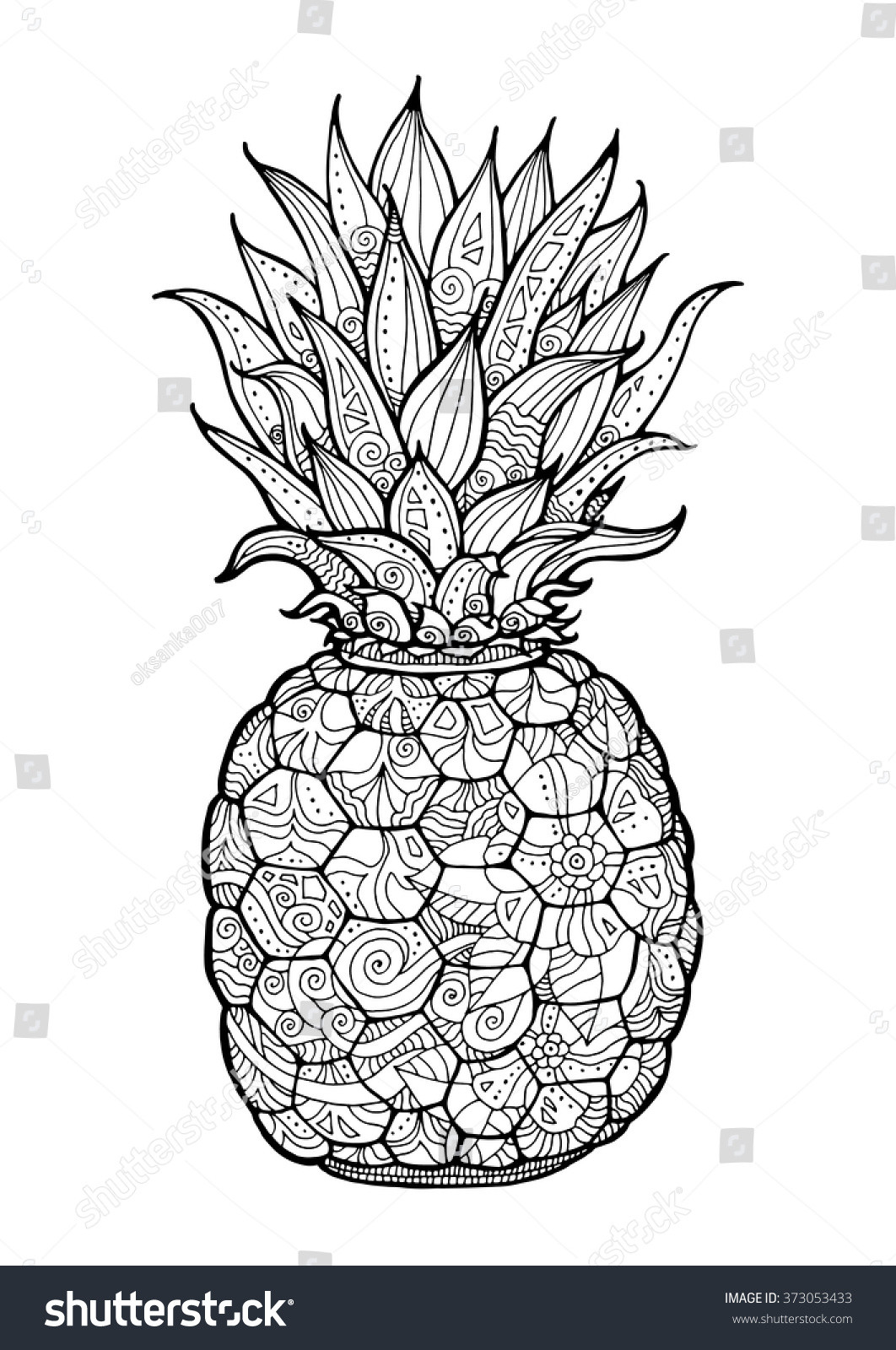 Best ideas about Fruit Coloring Pages For Adults . Save or Pin Ananas Pineapple Exotic Fruit Floral Pattern Stock Vector Now.