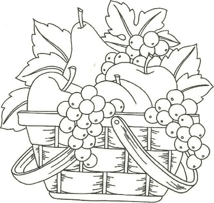 Best ideas about Fruit Coloring Pages For Adults . Save or Pin Coloring Pages Fruits In A Basket Coloring Home Now.