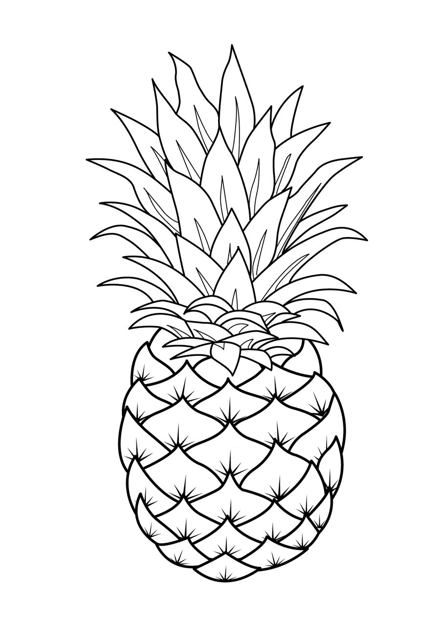 Best ideas about Fruit Coloring Pages For Adults . Save or Pin Fruits Coloring Pages Printable Now.