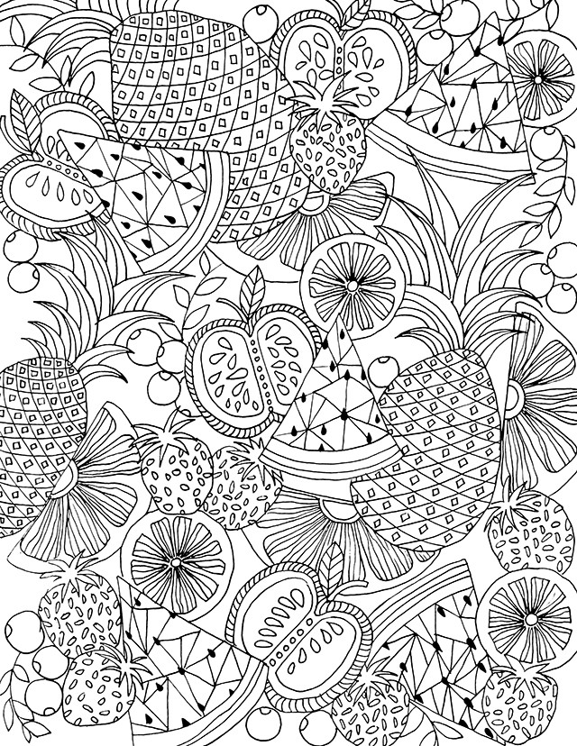 Best ideas about Fruit Coloring Pages For Adults . Save or Pin alisaburke free coloring page for you Now.