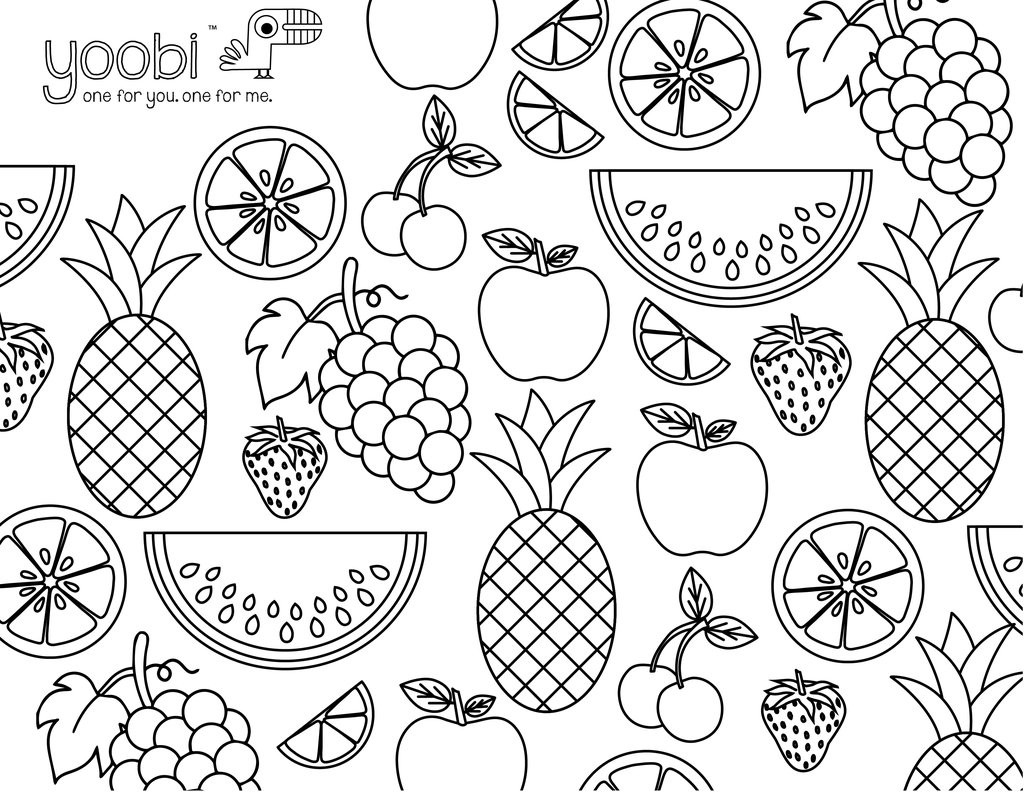 Best ideas about Fruit Coloring Pages For Adults . Save or Pin Adult Coloring Sheets – Yoobi Now.