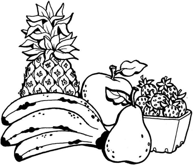 Best ideas about Fruit Coloring Pages For Adults . Save or Pin Printable Fruit Coloring Pages Coloring Home Now.