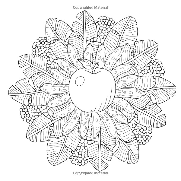 Best ideas about Fruit Coloring Pages For Adults . Save or Pin Fruit Mandala Coloring Book for Adults 30 nature Now.