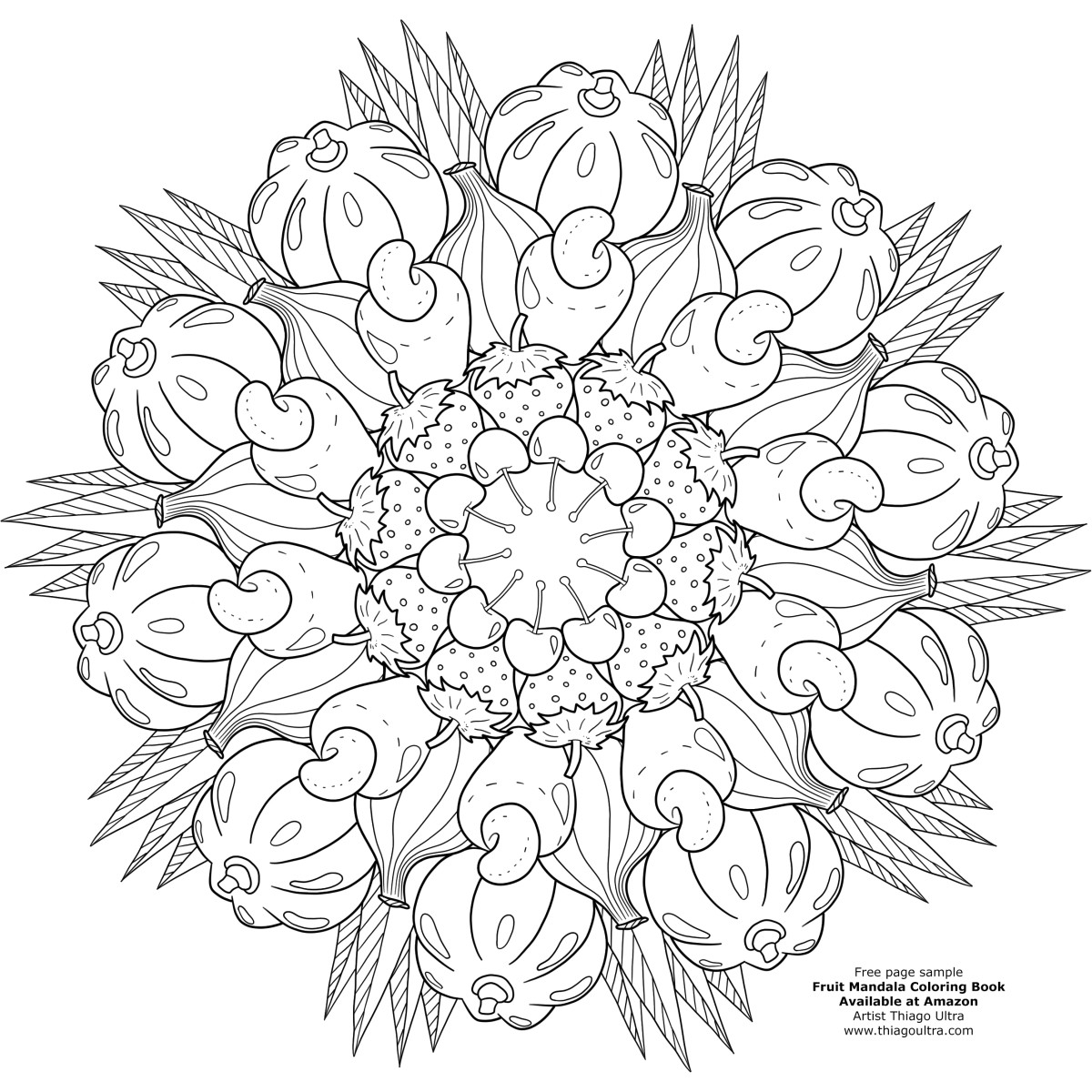 Best ideas about Fruit Coloring Pages For Adults . Save or Pin Video Sneak Peek A Closer Look At Fruit Mandalas – Adult Now.