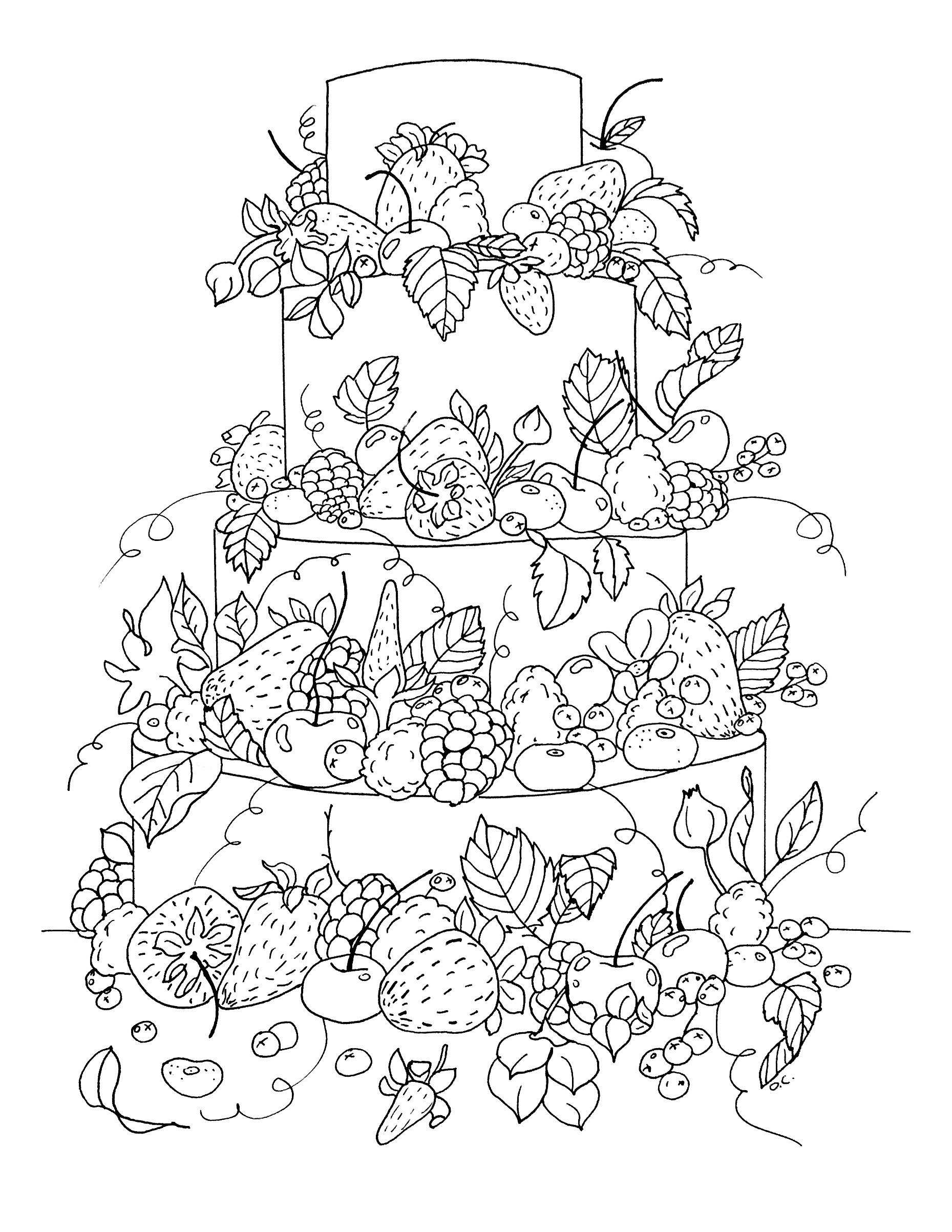 Best ideas about Fruit Coloring Pages For Adults . Save or Pin Cup Cakes Coloriages difficiles pour adultes coloriage Now.