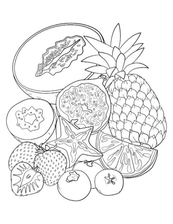 Best ideas about Fruit Coloring Pages For Adults . Save or Pin fruit adult coloring pages Google Search … Now.