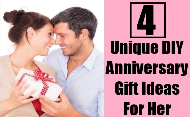 Best ideas about Fun Gift Ideas For Her . Save or Pin 4 Unique DIY Anniversary Gift Ideas For Her Now.