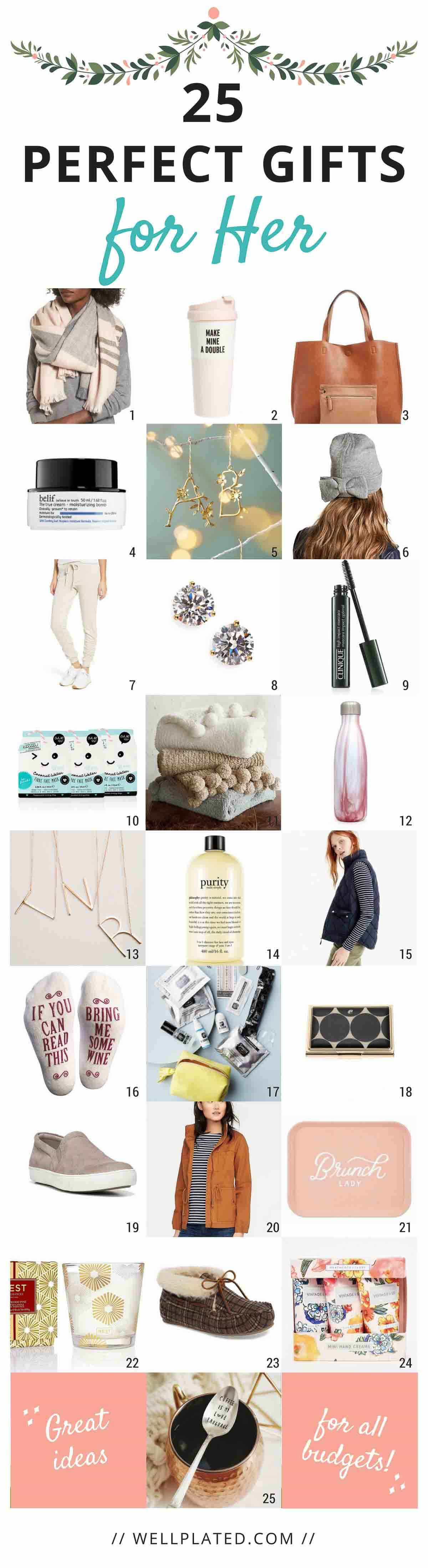 Best ideas about Fun Gift Ideas For Her . Save or Pin 25 Perfect Gifts for Her Now.
