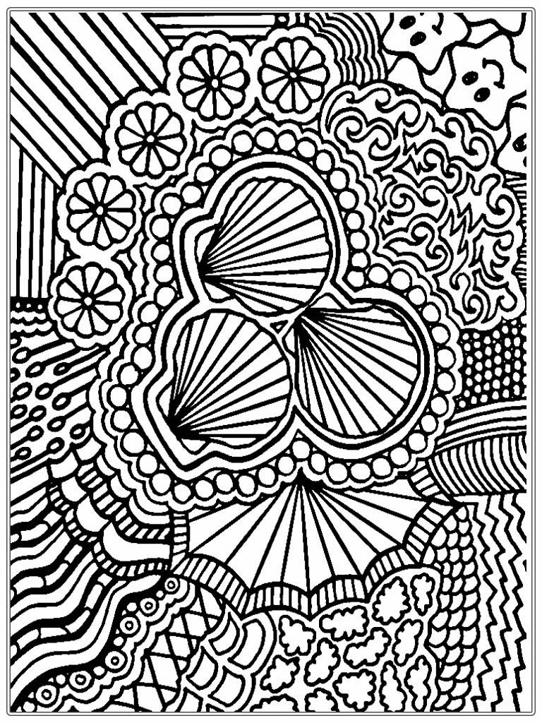 Best ideas about Fun Printable Coloring Pages For Adults . Save or Pin Shells Adult Coloring Pages Now.
