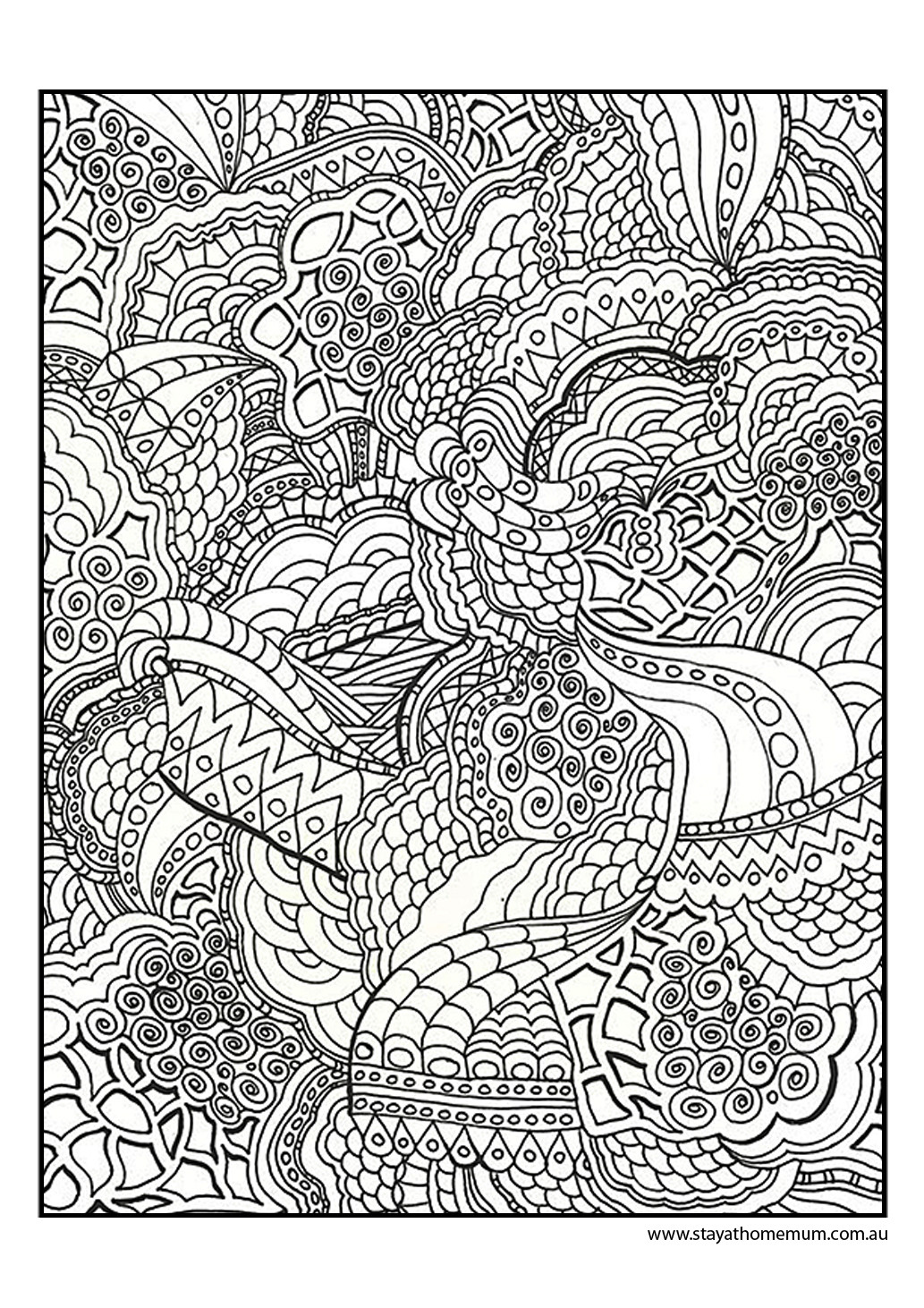 Best ideas about Fun Printable Coloring Pages For Adults . Save or Pin Printable Colouring Pages for Kids and Adults Now.