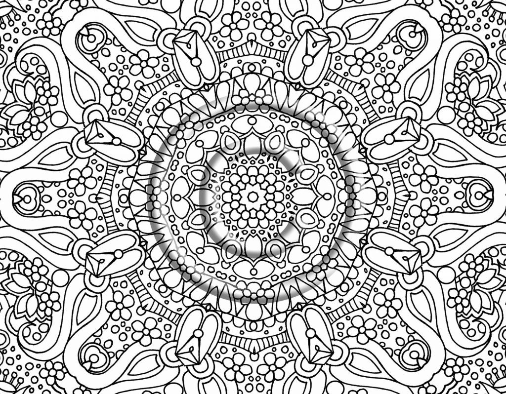 Best ideas about Fun Printable Coloring Pages For Adults . Save or Pin Free Printable Abstract Coloring Pages for Adults Now.