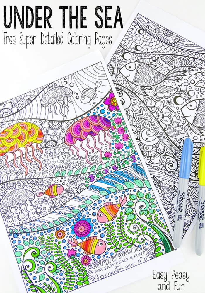 Best ideas about Fun Printable Coloring Pages For Adults . Save or Pin Under The Sea Coloring Pages for Adults Easy Peasy and Fun Now.