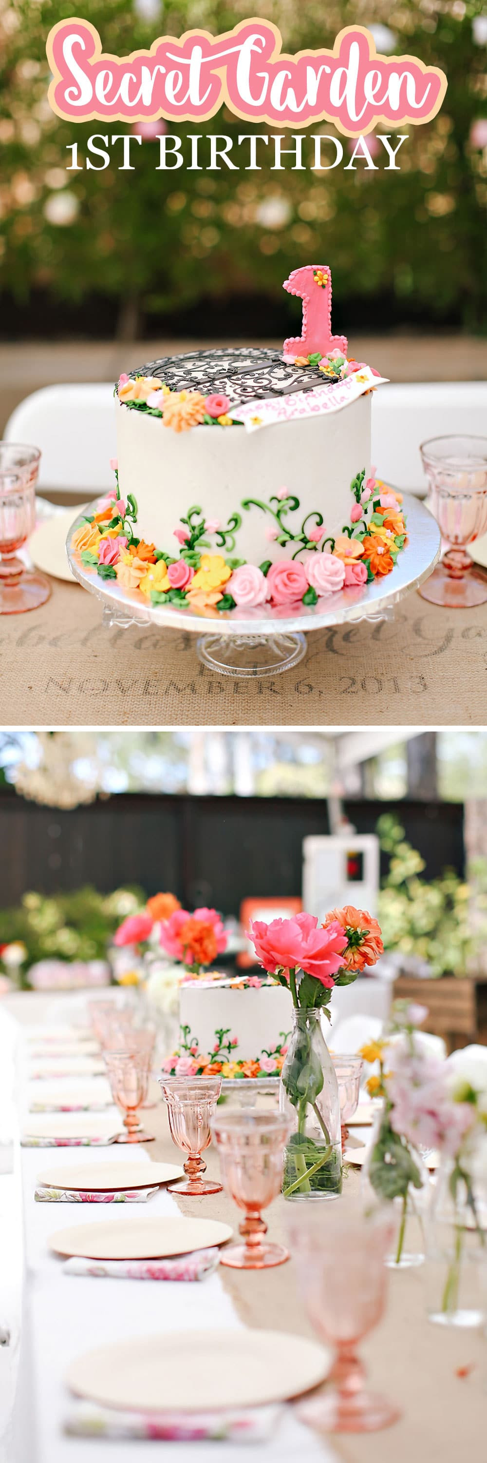 Best ideas about Garden Birthday Party . Save or Pin A Secret Garden Themed 1st Birthday Now.