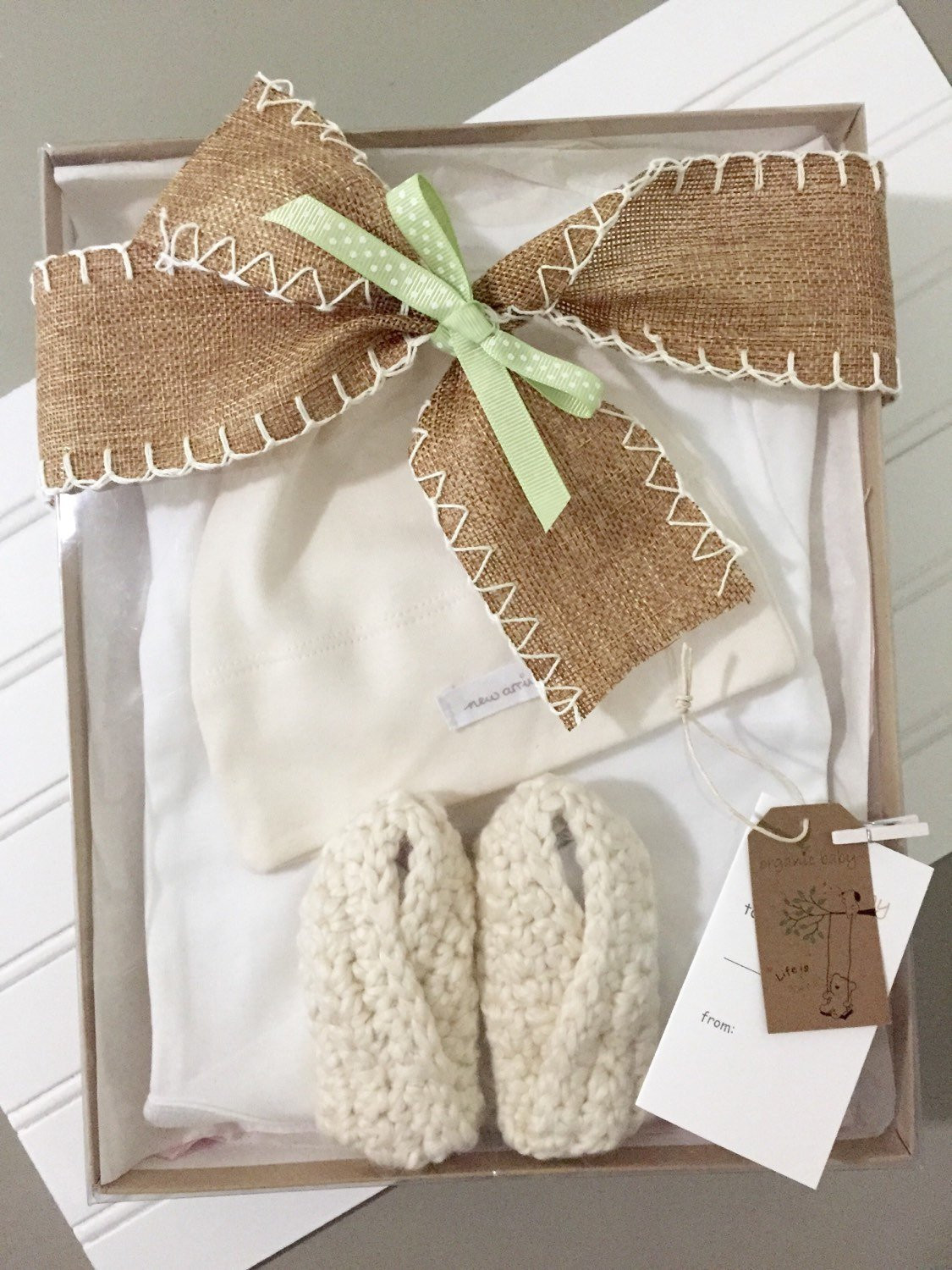 Best ideas about Gender Neutral Baby Gift Ideas . Save or Pin Gender Neutral Baby Gift Set ORGANIC new by greenbabybaskets Now.