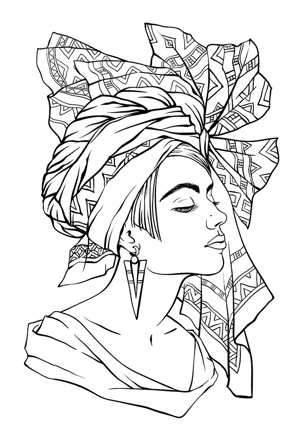 Best ideas about General Coloring Pages For Girls . Save or Pin African Queen Coloring Pages Now.