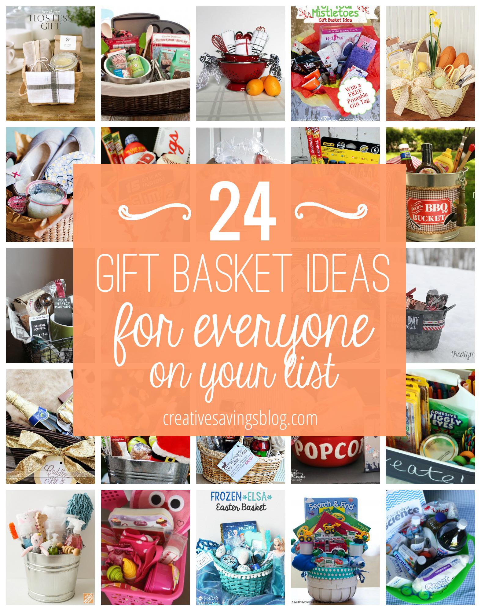 Best ideas about Gift Basket Theme Ideas . Save or Pin DIY Gift Basket Ideas for Everyone on Your List Now.