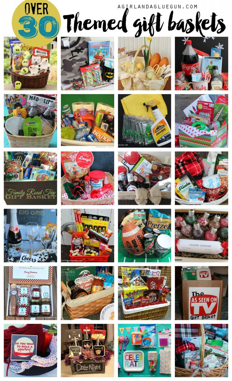 Best ideas about Gift Basket Theme Ideas . Save or Pin Themed t basket roundup A girl and a glue gun Now.