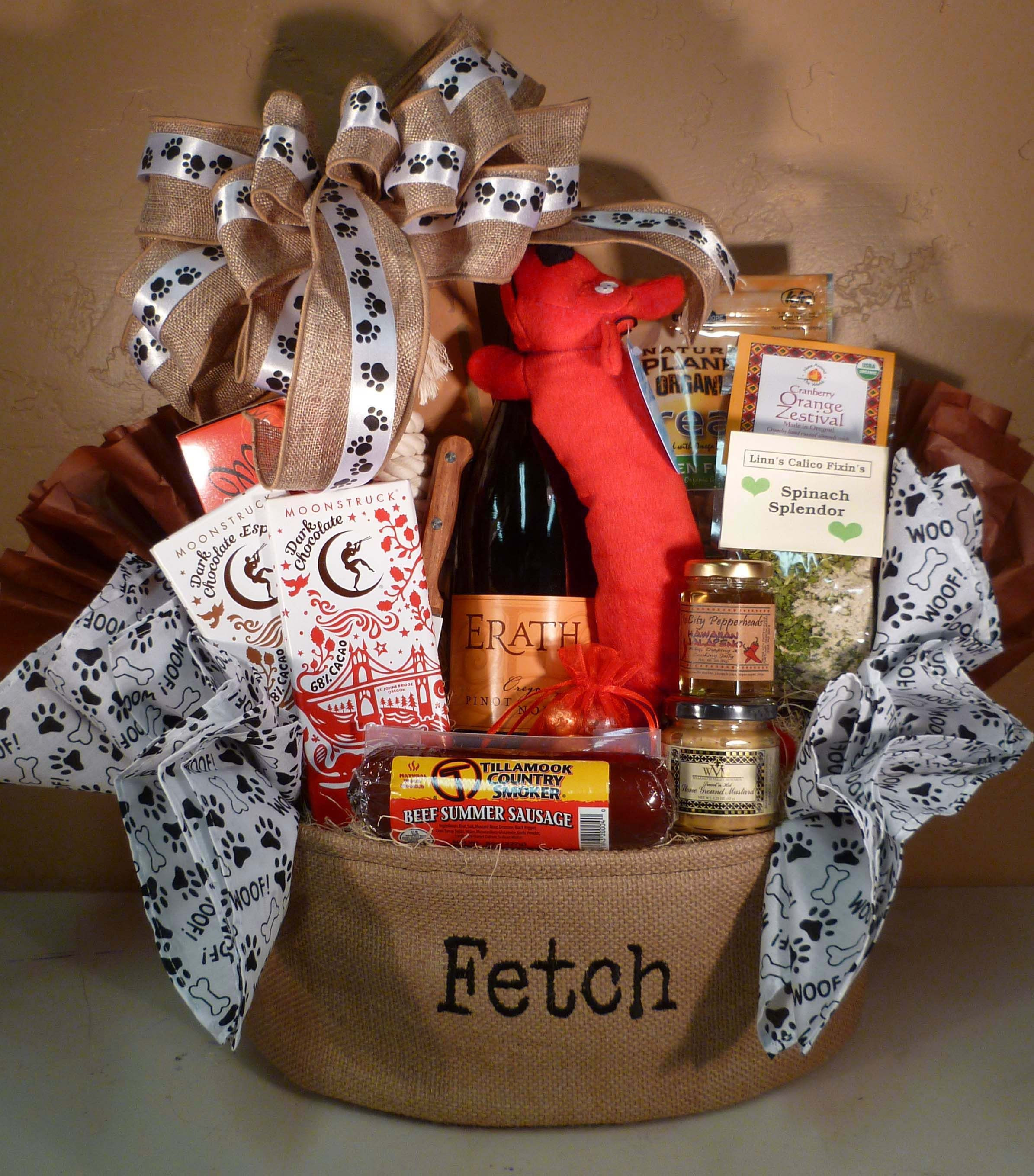 Best ideas about Gift Basket Theme Ideas . Save or Pin Dog Themed basket for raffle idea mix of treats for Now.