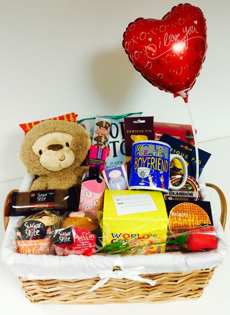 Best ideas about Gift Baskets Ideas For Boyfriend . Save or Pin Valentines Day Baskets For Him – Quotes & Wishes for Now.