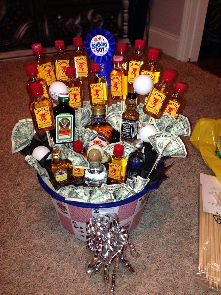 Best ideas about Gift Baskets Ideas For Boyfriend . Save or Pin 21st birthday basket for boyfriend Now.