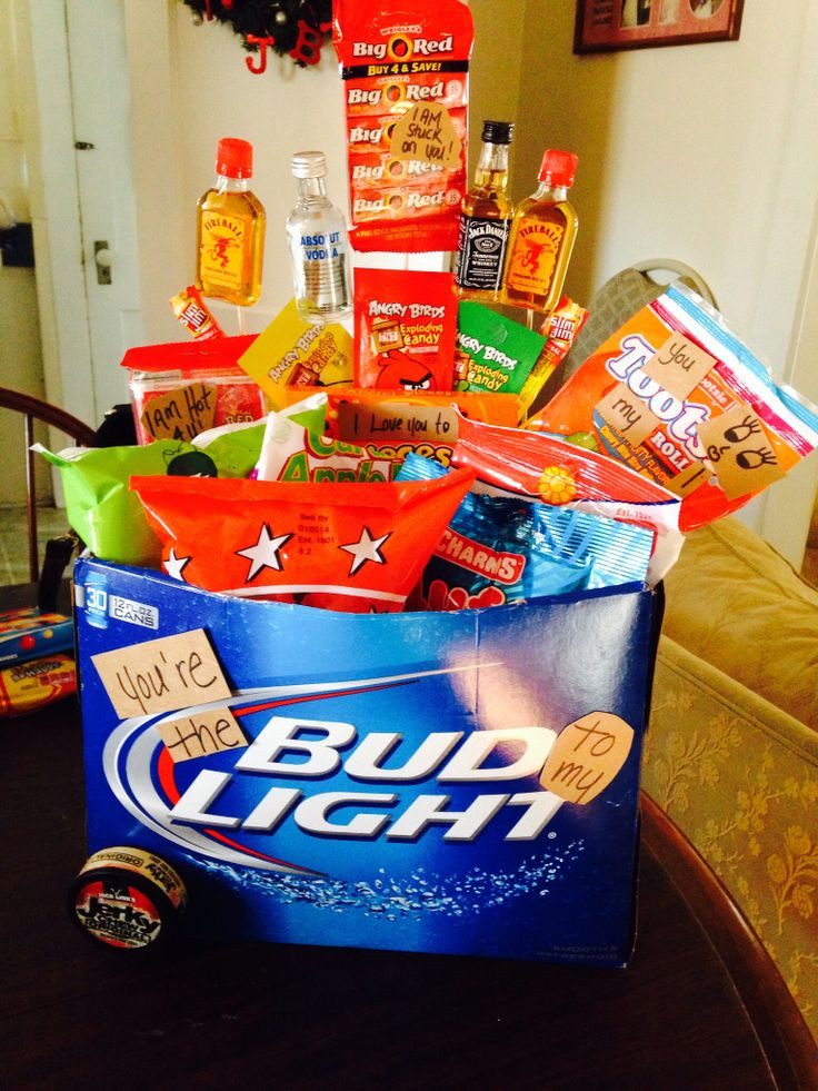 Best ideas about Gift Baskets Ideas For Boyfriend . Save or Pin Gift basket for my boyfriend All his favorite goo s Now.