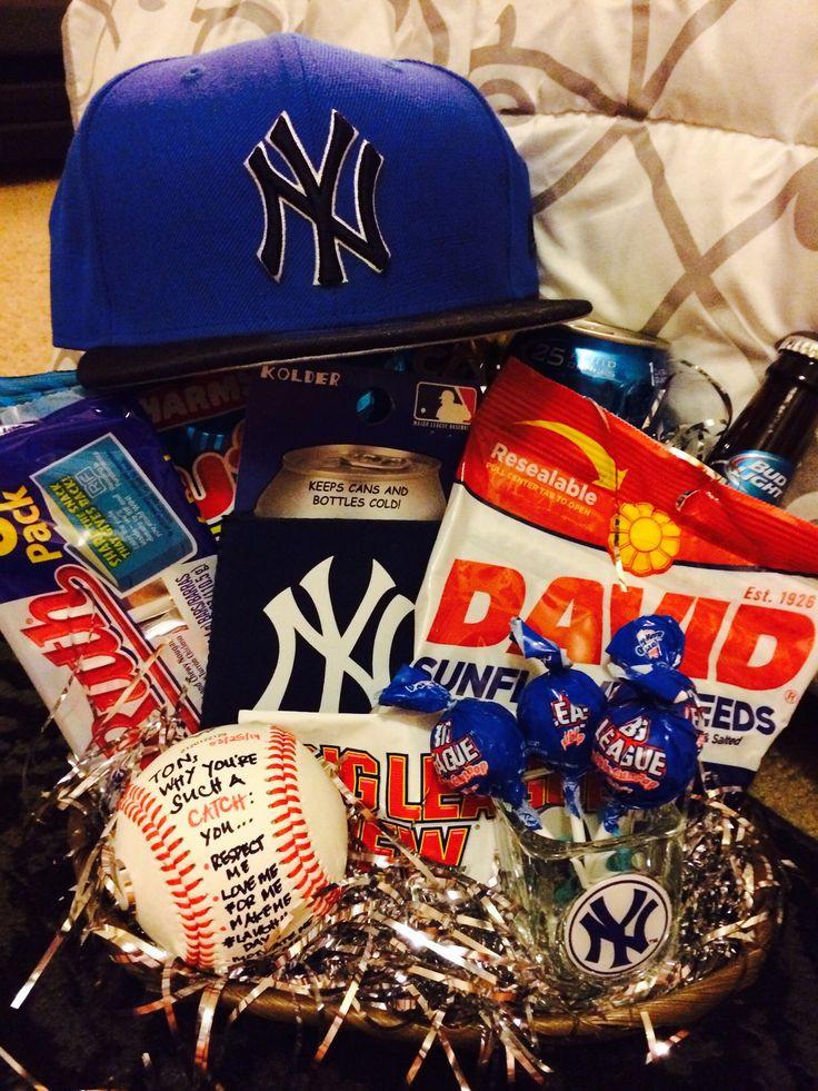 Best ideas about Gift Baskets Ideas For Boyfriend . Save or Pin Best 25 Baseball t basket ideas on Pinterest Now.