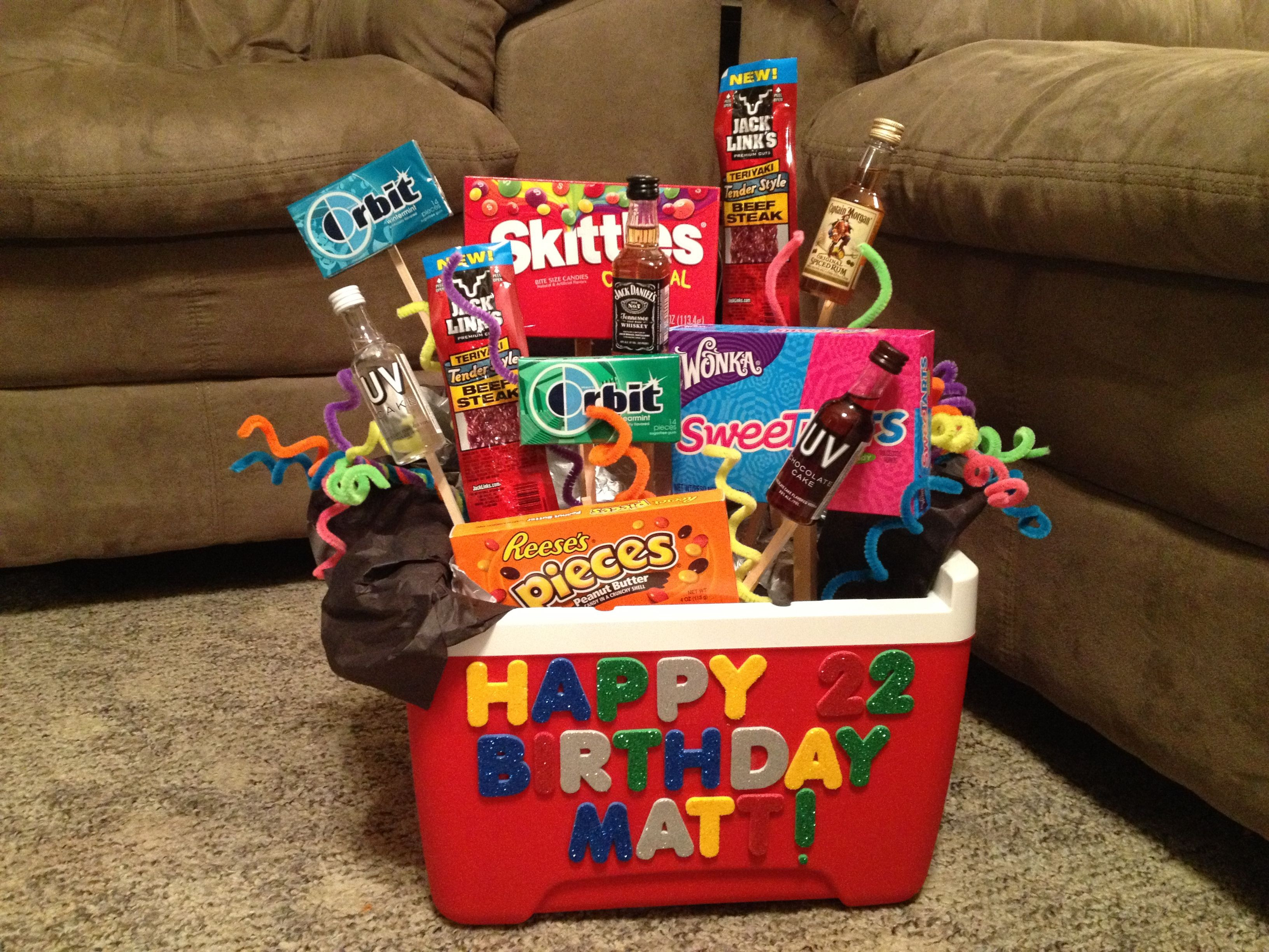 Best ideas about Gift Baskets Ideas For Boyfriend . Save or Pin Birthday t for your boyfriend Couples Now.