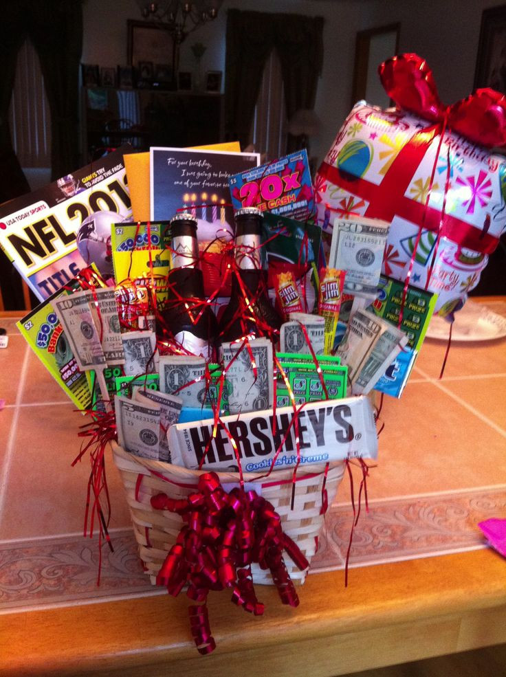 Best ideas about Gift Baskets Ideas For Boyfriend . Save or Pin I attempted to make a birthday t basket for my Now.