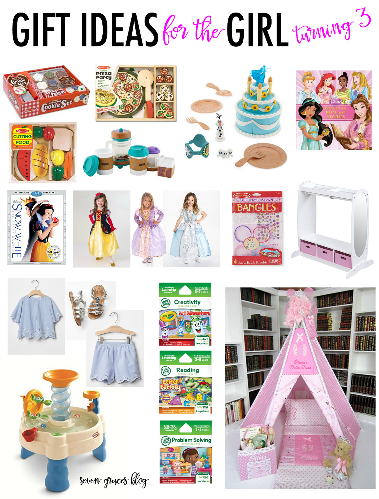 Best ideas about Gift Ideas For 3 Year Old Baby Girl . Save or Pin Gift Ideas for the Girl Turning Three Seven Graces Now.
