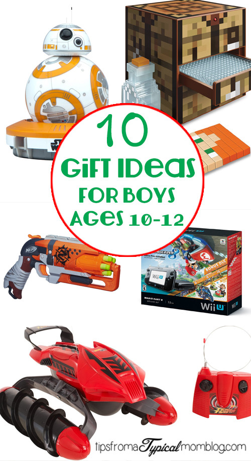 Best ideas about Gift Ideas For Boys Age 11 . Save or Pin 10 Gifts for Boys ages 10 12 Tips from a Typical Mom Now.