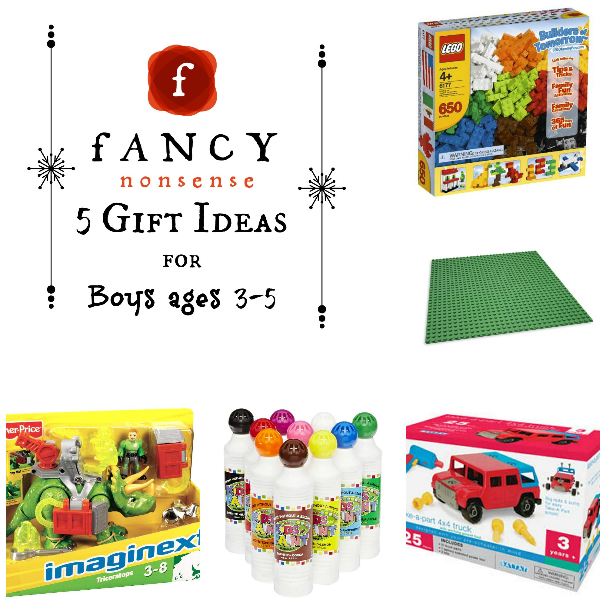 Best ideas about Gift Ideas For Boys Age 11 . Save or Pin 5 Gift Ideas For Boys Ages 3 5 Now.