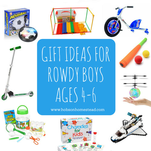 Best ideas about Gift Ideas For Boys Age 6 . Save or Pin 15 Gift Ideas for Rowdy Boys Ages 4 6 Now.