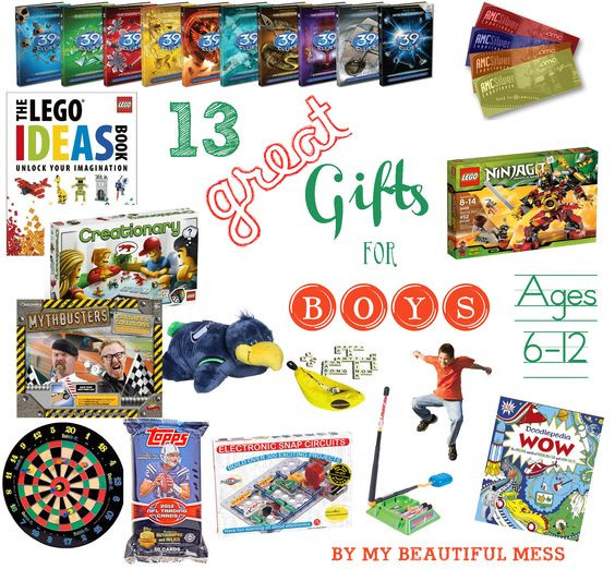 Best ideas about Gift Ideas For Boys Age 6 . Save or Pin 13 Great Gift Ideas for Grade School Aged Boys ages 6 12 Now.